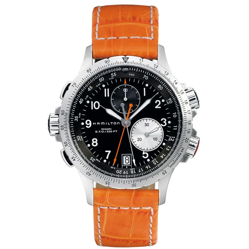 Mens Hamilton Khaki ETO Chronograph Watch H77612933