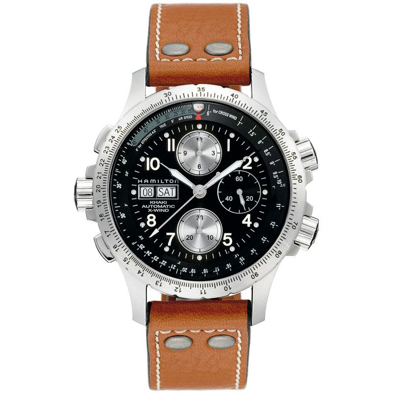 Mens Hamilton Khaki X-Wind Automatic Chronograph Watch H77616533