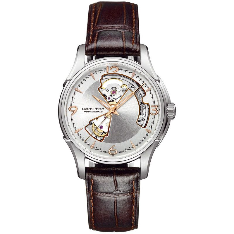 Mens Hamilton Jazzmaster Open Heart Automatic Watch