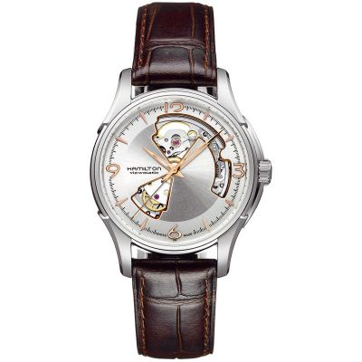 Hamilton Jazzmaster Open Heart Herrenuhr in Braun H32565555