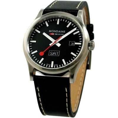Mondaine Sport Line Swiss Railways Herrenuhr in Schwarz A6673030819SBB