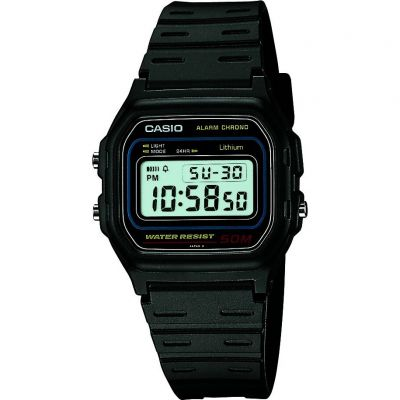 Mens Casio Retro Alarm Chronograph Watch W-59-1VQES