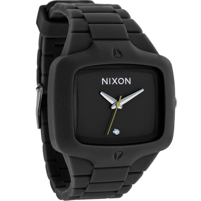 Mens Nixon The Rubber Player Diamond Watch A139-000