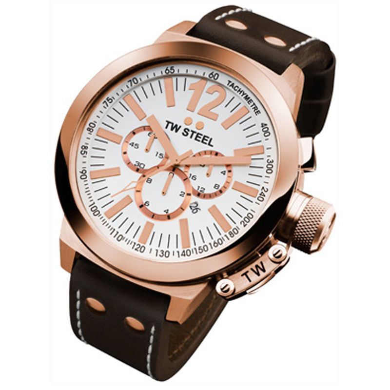 Mens TW Steel CEO Chronograph 50mm Watch CE1020