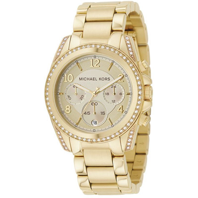 Image of  			   			  			   			  Ladies Michael Kors Blair Chronograph Watch