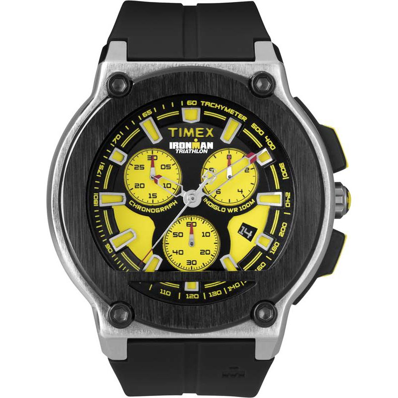 Mens Timex Indiglo Ironman Triathlon Chronograph Watch T5K350