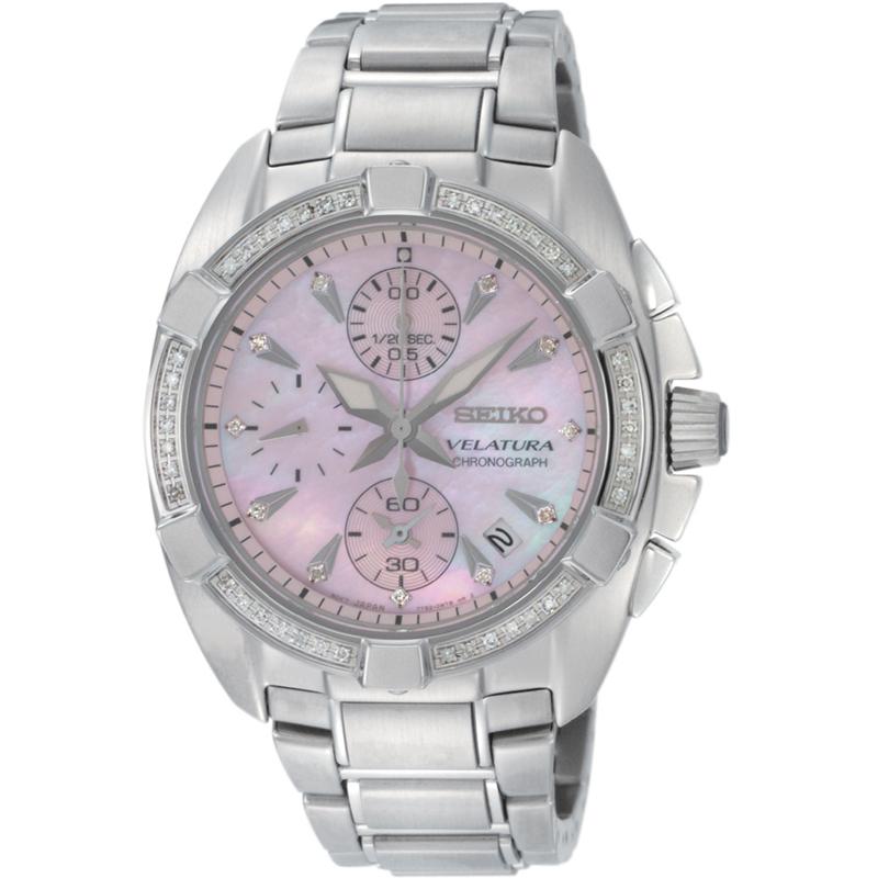 5ba63e0adace Ladies Seiko Velatura Chronograph Watch (SNDZ37P1)