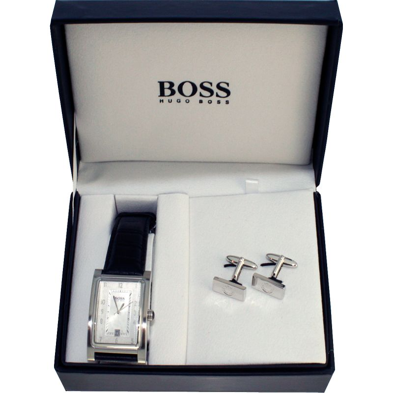 Mens Hugo Boss Cufflink Set Watch 210006