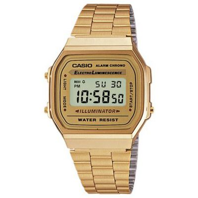 Casio Classic Leisure Unisexchronograph in Gold A168WG-9EF