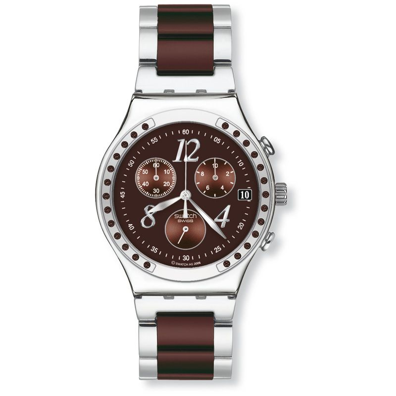 Ladies Swatch Dreambrown Chronograph Watch YCS526G