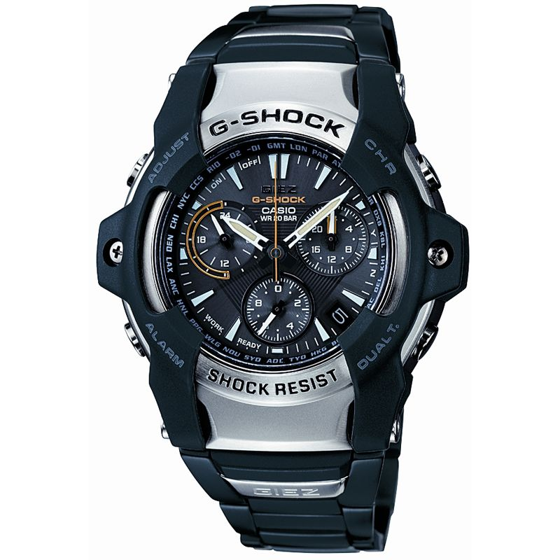 Mens Casio G-Shock Giez Alarm Chronograph Radio Controlled Watch GS-1100D-1AER