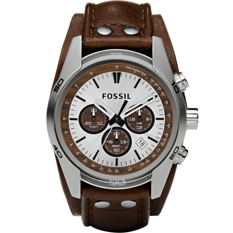 Mens Fossil Chronograph Cuff Watch