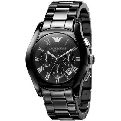 Mens Emporio Armani Ceramic Chronograph Watch AR1400
