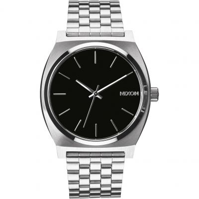 Nixon Black The Time Teller Unisexuhr in Silber A045-000