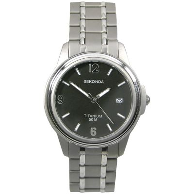 Mens Sekonda Titanium Watch 3876
