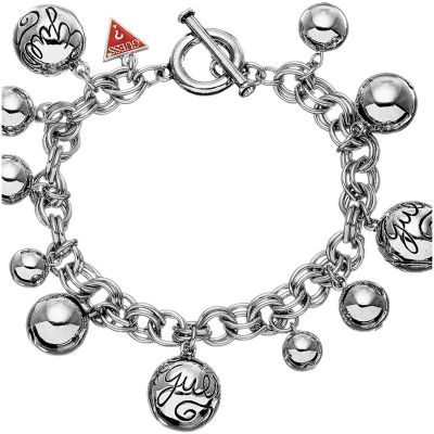 Ladies Guess Bauble Silver Bracelet UBB80812