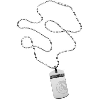 Mens Diesel Stainless Steel Necklace DX0007040