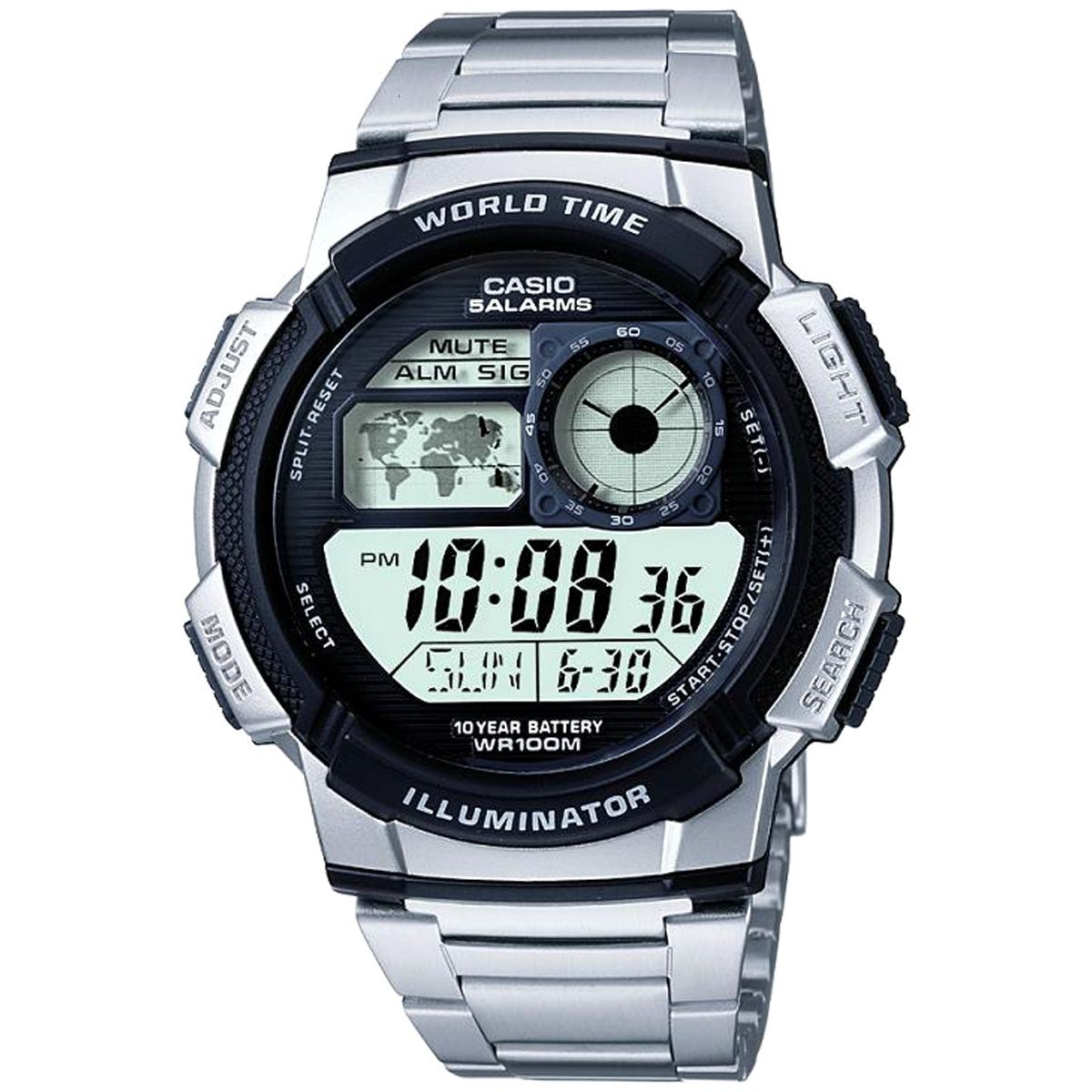 Gents casio world timer alarm chronograph watch ae 1000wd 1avef mens casio world timer alarm chronograph watch ae 1000wd 1avef gumiabroncs Choice Image