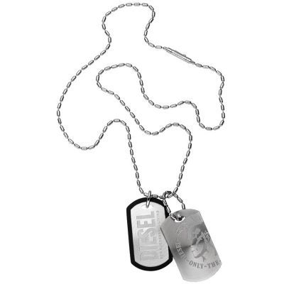 Mens Diesel Stainless Steel Necklace DX0011040