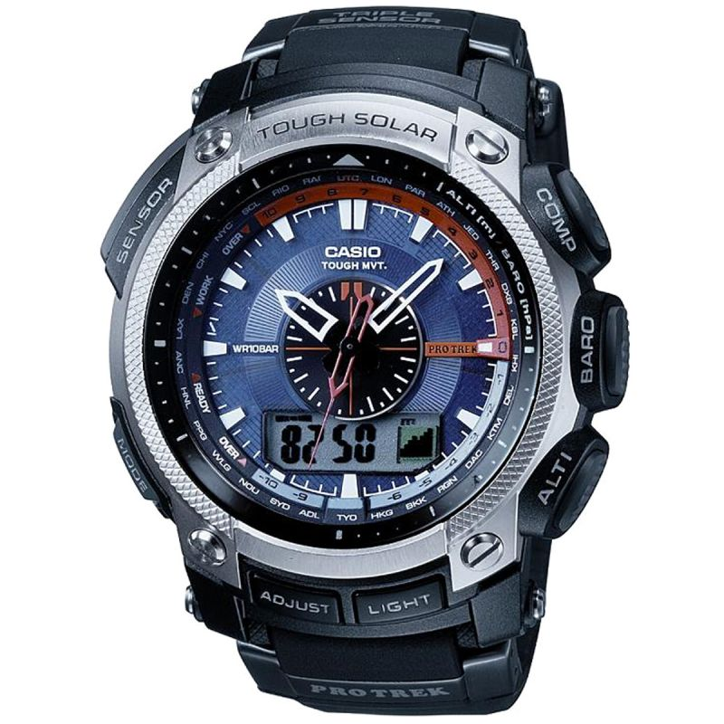 Mens Casio Pro Trek Wave Ceptor Alarm Chronograph Radio Controlled Watch
