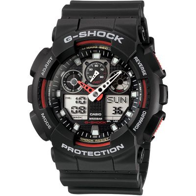Casio G-Shock Herrenchronograph in Schwarz GA-100-1A4ER