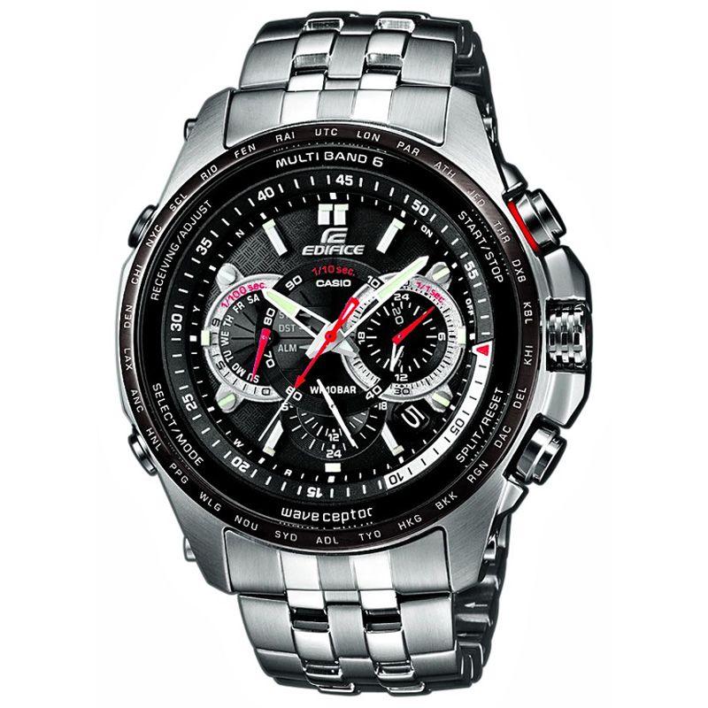 Mens Casio Edifice Wave Ceptor Alarm Chronograph Radio Controlled Watch