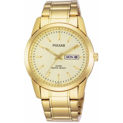 Pulsar Herrenuhr in Gold PJ6024X1