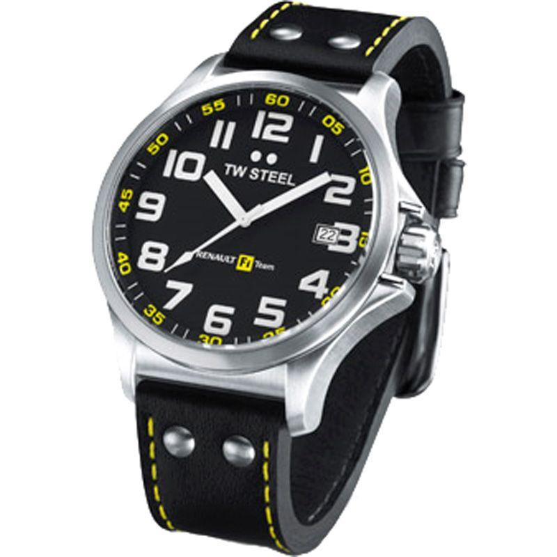 Mens TW Steel Renault F1 Team Pilot 45mm Watch