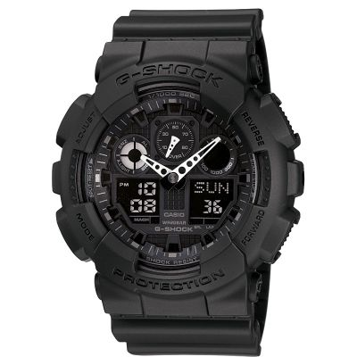 Mens Casio G-Shock Alarm Chronograph Watch GA-100-1A1ER