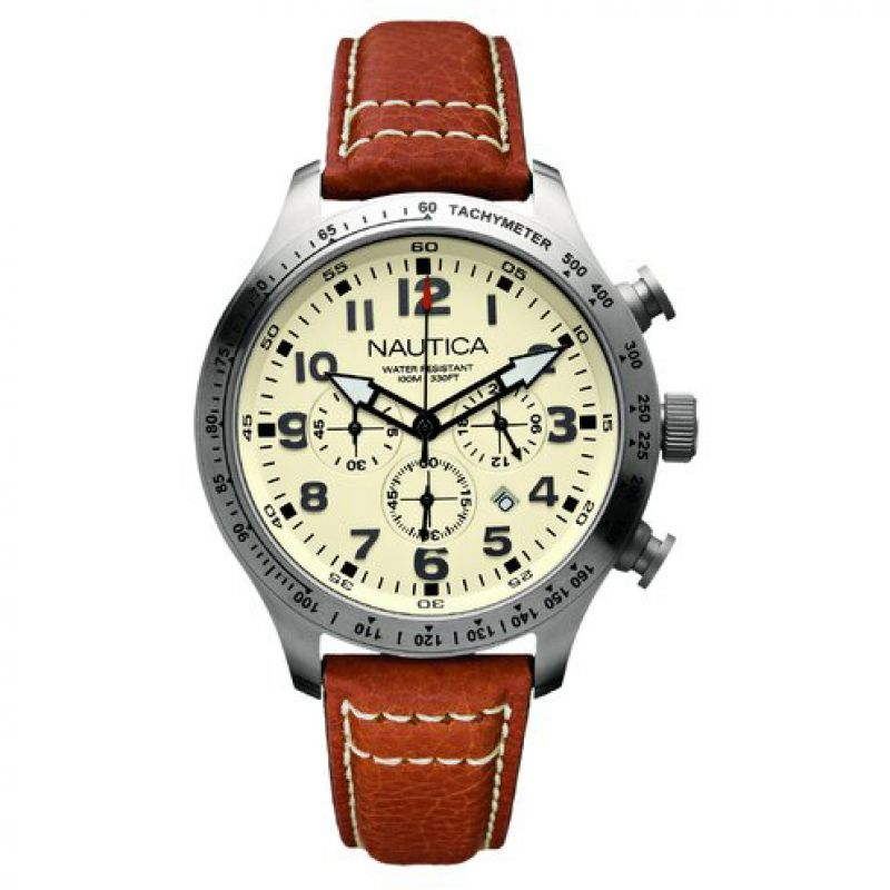 Mens Nautica BFD101 44mm Chronograph Watch A15540G