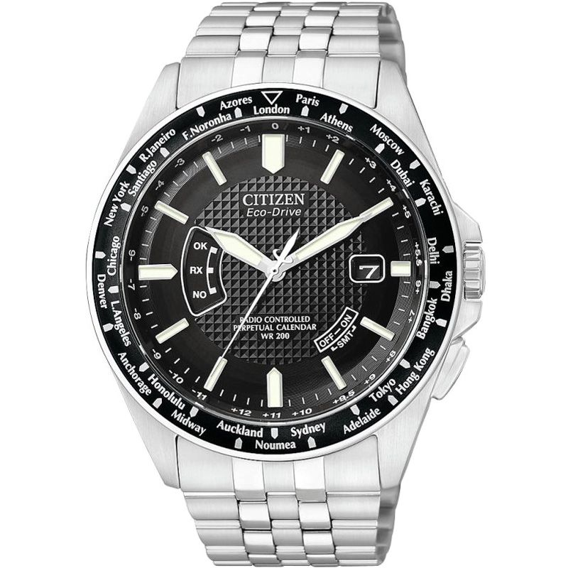 Mens Citizen World Perpetual A-T Radio Controlled Watch