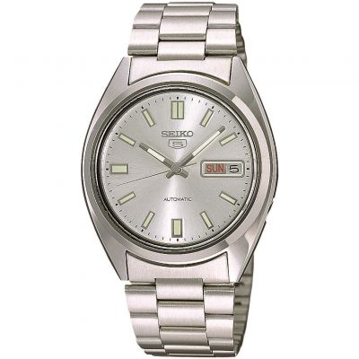 Seiko 5 Herrenuhr in Silber SNXS73