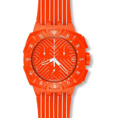 Swatch Chrono Plastic Flash Run Unisexchronograph in Orange SUIO400