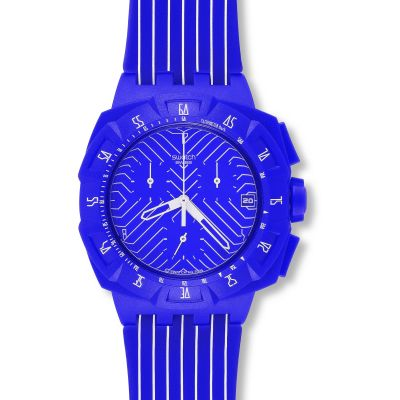 Unisex Swatch Purple Chronograph Watch SUIV401