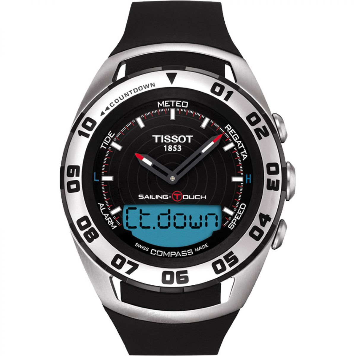 gents tissot sailing touch alarm chronograph watch t0564202705101 rh watchshop com tissot racing touch user manual tissot racing touch user manual