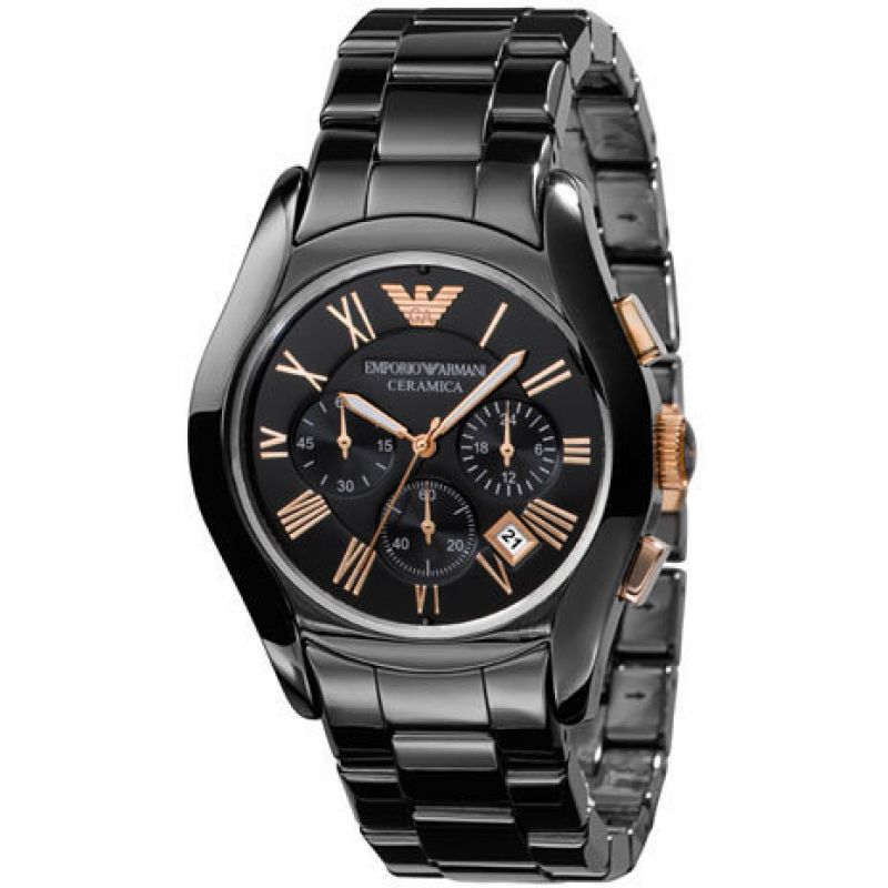 Mens Emporio Armani Ceramic Chronograph Watch AR1410