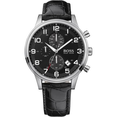 Mens Hugo Boss Aeroliner Chronograph Watch 1512448