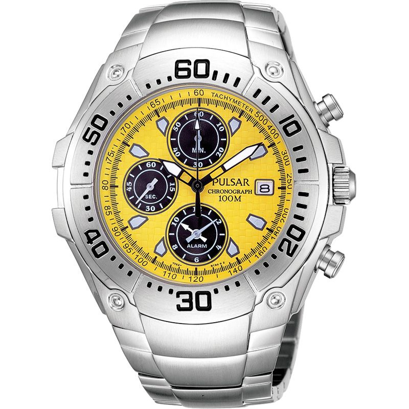 Mens Pulsar Alarm Chronograph Watch PF3409X1