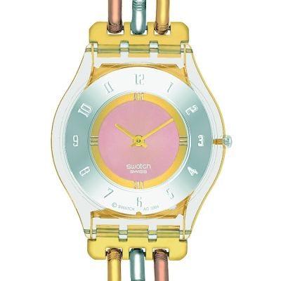 Swatch Skins Tri-Gold Dameshorloge Tweetonig SFK240A