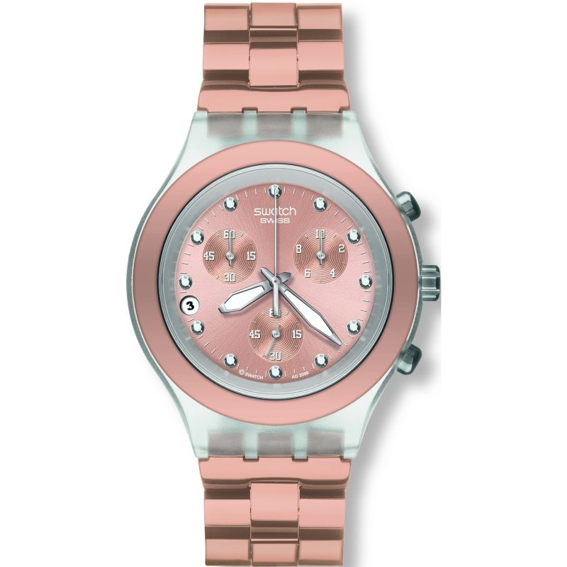 Unisex Swatch Full-Blooded Caramel Chronograph Watch