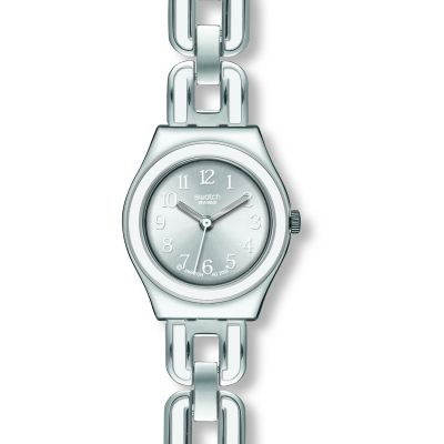 Swatch Irony Small White Chain Damenuhr in Silber YSS254G