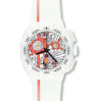 Mens Swatch Street Map Flash Chronograph Watch SUIW411