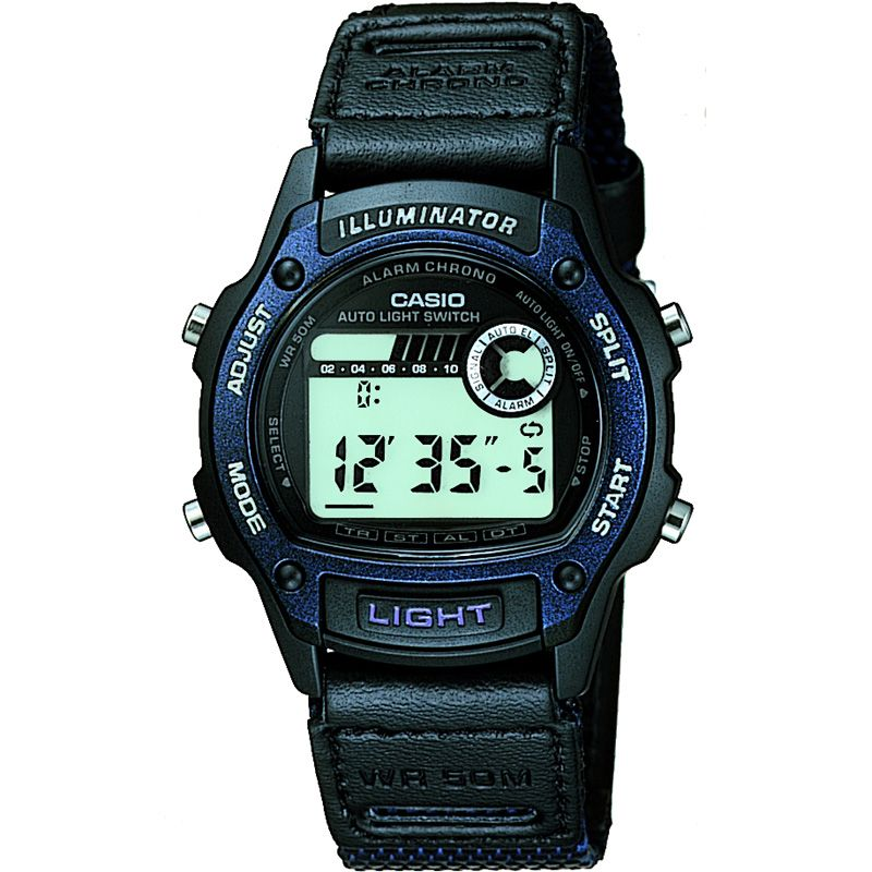 Mens Casio Sports Alarm Chronograph Watch W-94HF-2AVES