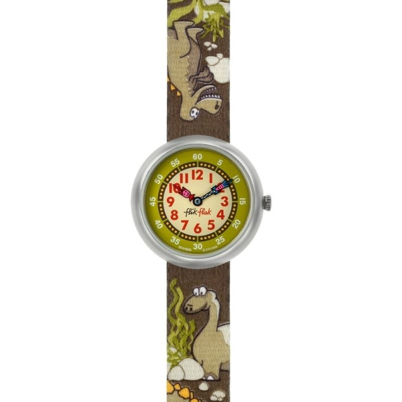 Childrens Flik Flak Crunchy Dino Watch FBN062