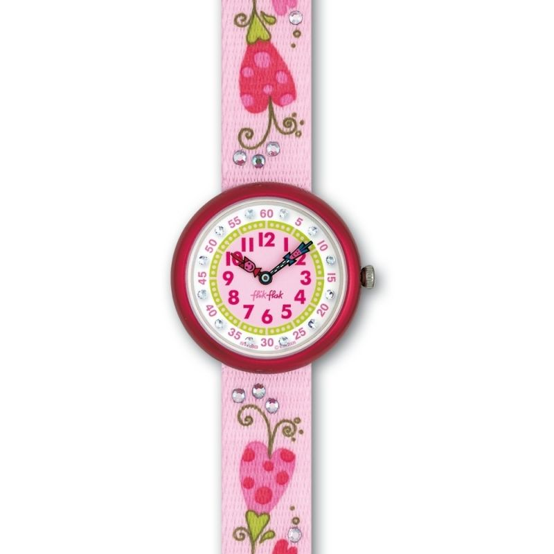 Childrens Flik Flak Romantic Flowers Watch FBN044