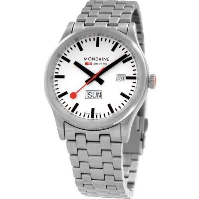Mondaine Swiss Railways Sport Herrenuhr in Silber A6673030816SBM