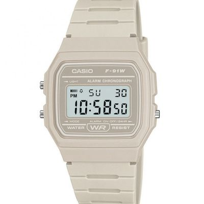 Unisex Casio Classic Alarm Chronograph Watch F-91WC-8AEF
