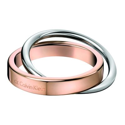 Ladies Calvin Klein Two-tone steel/gold plate Size N Coil Ring KJ63BR010107