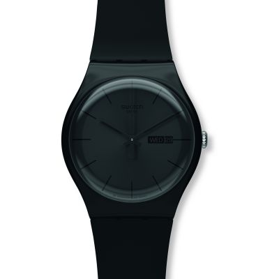 Swatch Black Rebel Unisexklocka Svart SUOB702