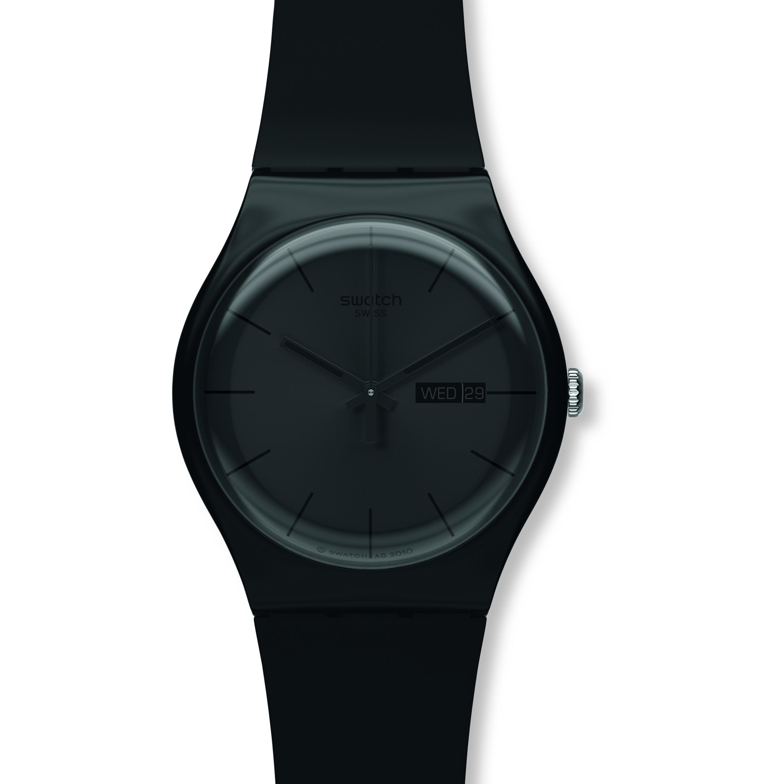18b99e2fbeb2 Unisex Swatch Black Rebel Watch (SUOB702)